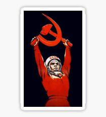 Sowjetische Weltraumkunst - Kosmonauten: Die Pioniere des Weltraums! Sticker