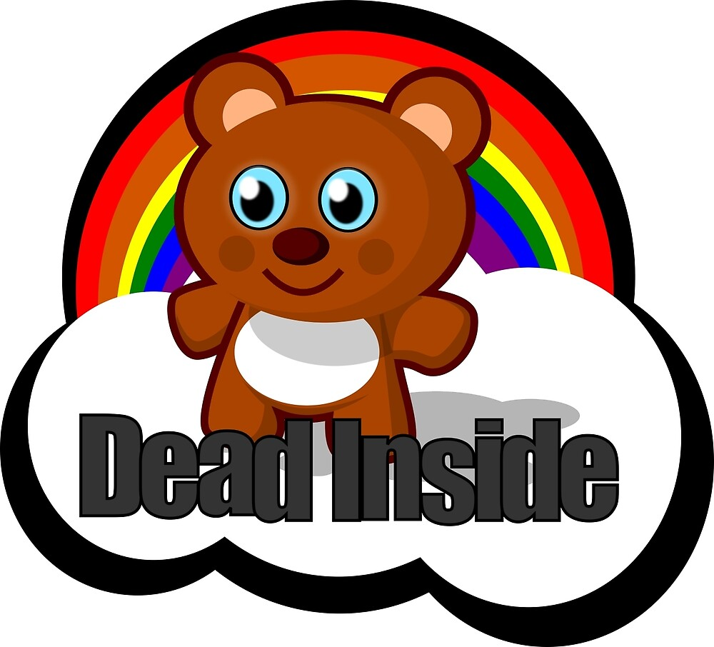 Dead Inside Bear by cupcaek