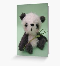 'Meiko' the Panda - Handmade bears from Teddy Bear Orphans Greeting Card