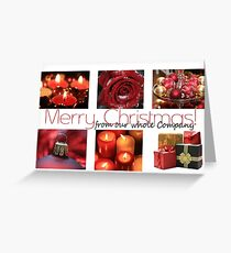 Business Christmas Card: Winter Collage Greeting Card