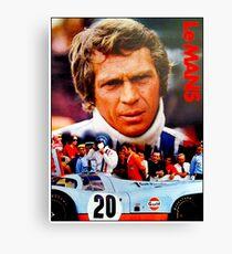 LE MANS; Vintage Grand Prix Auto Print Canvas Print