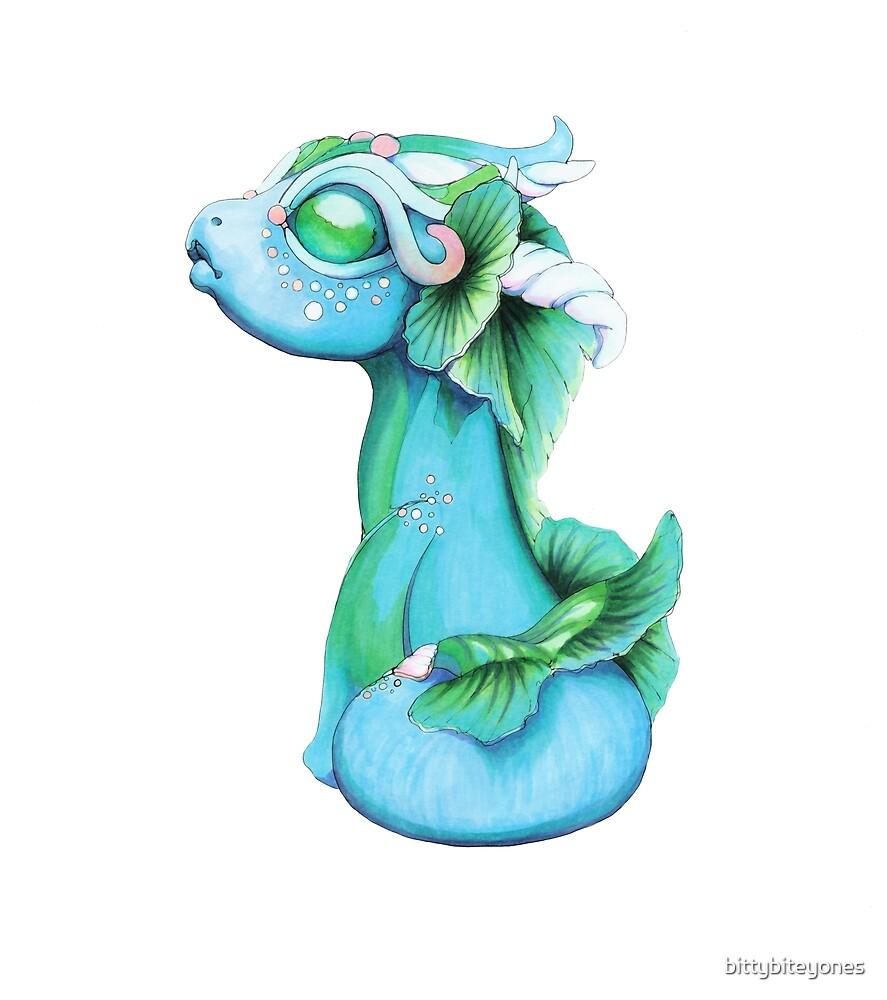 Bitty Water Dragon by bittybiteyones