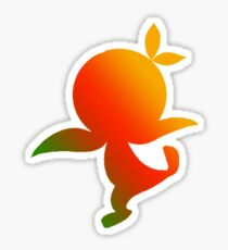 Orange Bird Ombre Silhouette Sticker