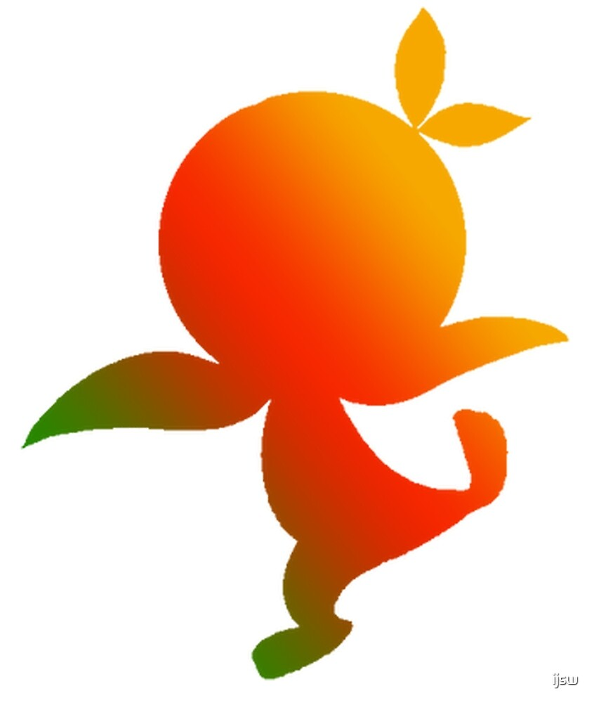 Orange Bird Ombre Silhouette by ijsw