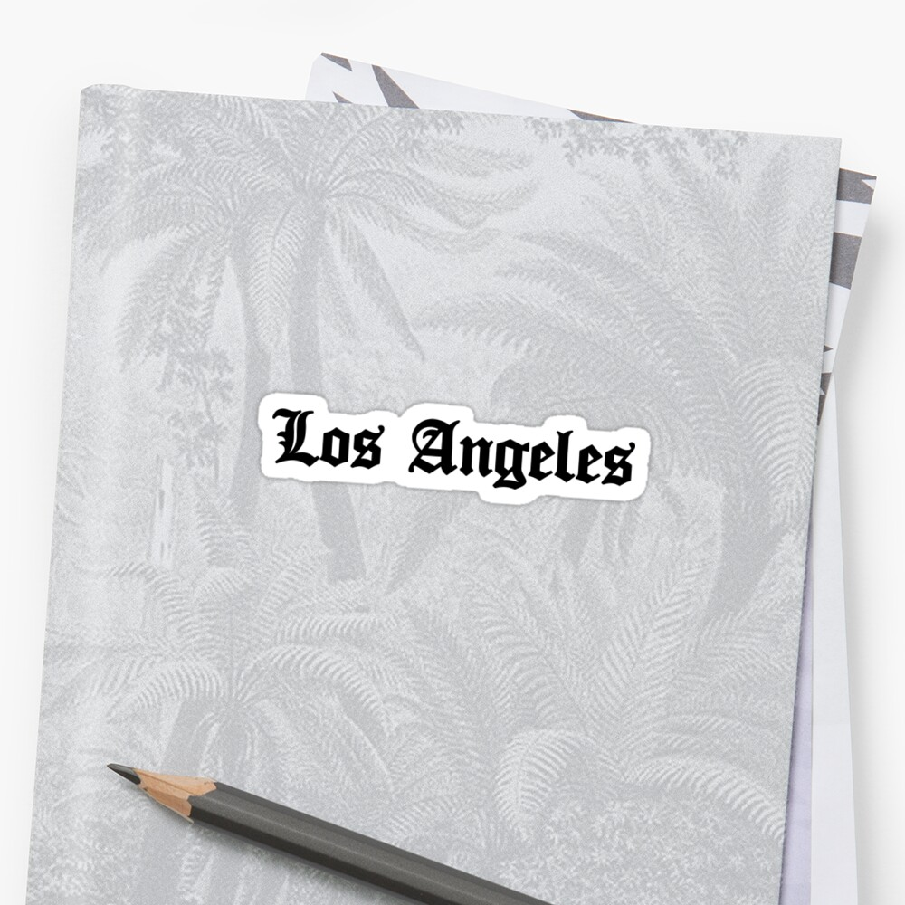 LOS ANGELES CALIFORNIA TYPOGRAPHY LA CALI WEST COAST by MyHandmadeSigns