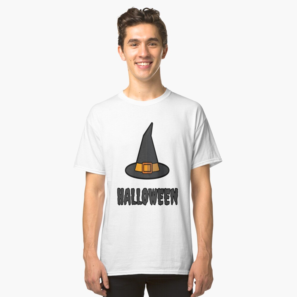 Funny Basic Witch Halloween T-Shirt Classic T-Shirt Front