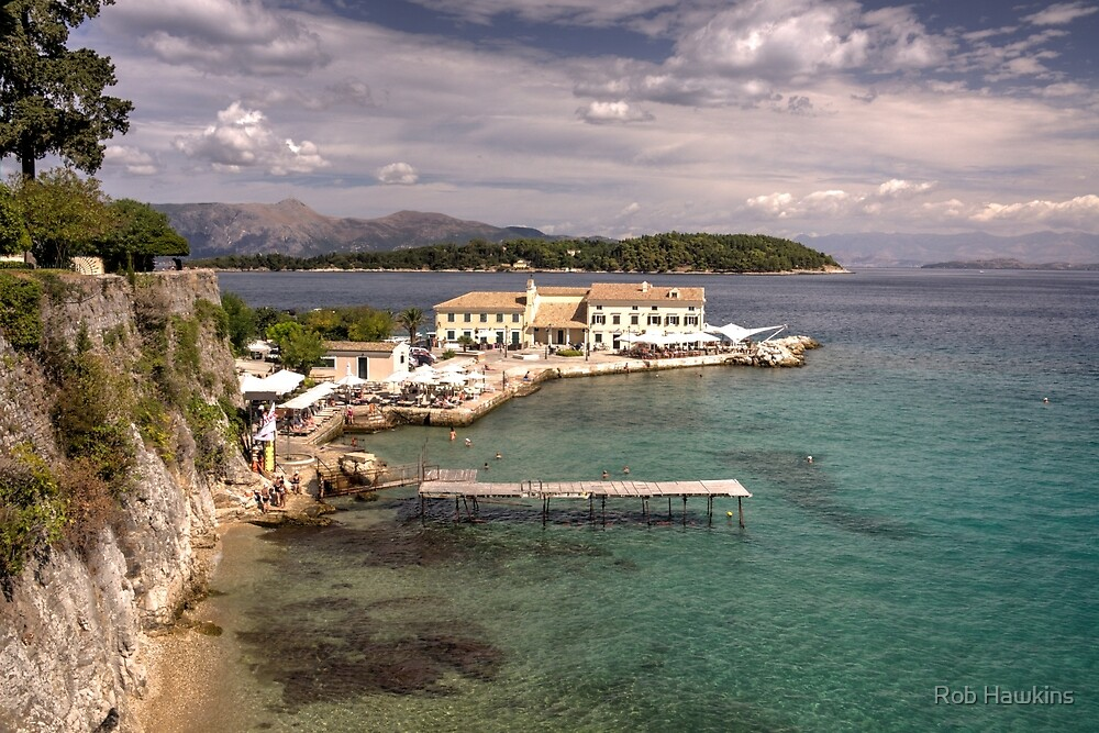 Corfu Seascape  by Rob Hawkins