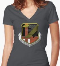 Yellow Squadron Insignia Women's Fitted V-Neck T-Shirt