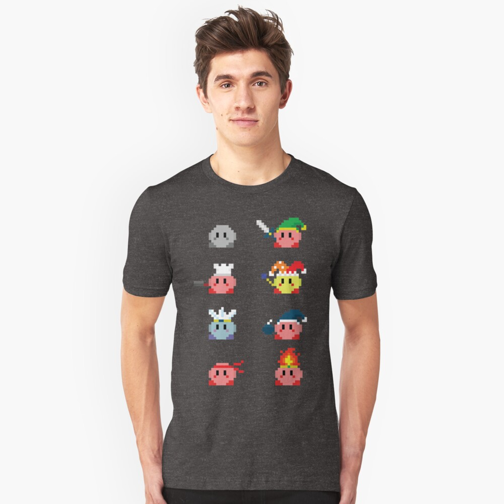Kirby Transformations  Unisex T-Shirt Front