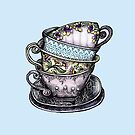 teacups by Rosemary  Scott - Redrockit