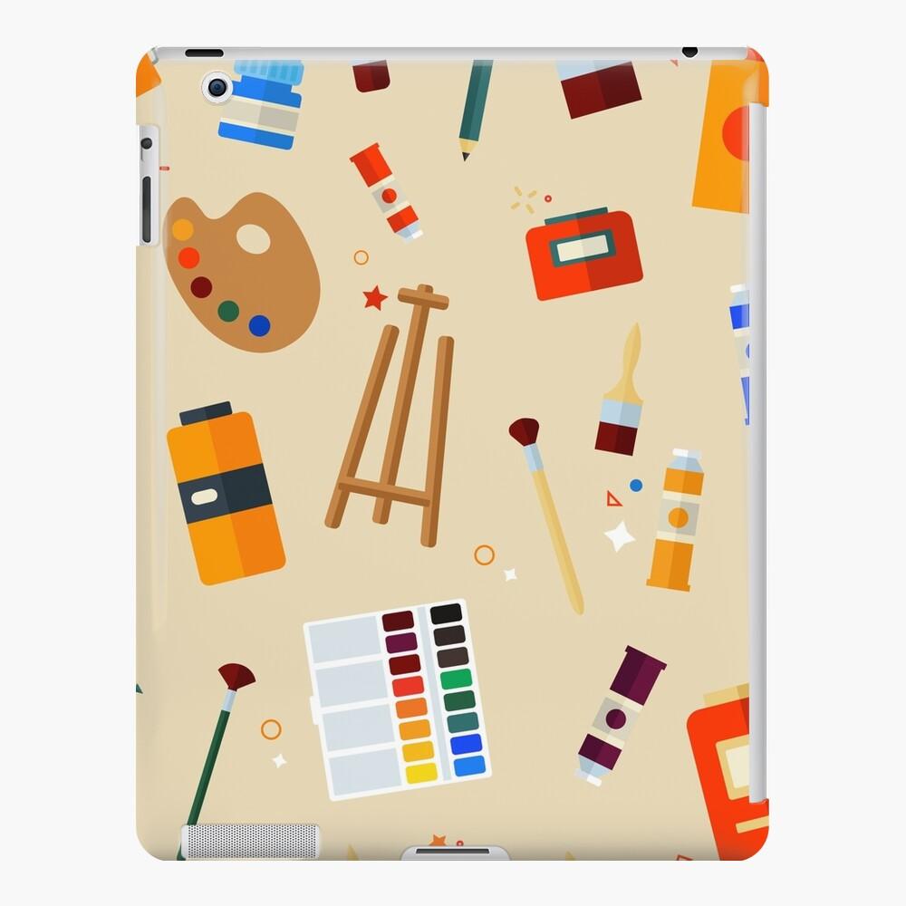 Werkzeuge und Materialien für Kreativität und Malerei Seamless Pattern iPad-Hülle & Skin