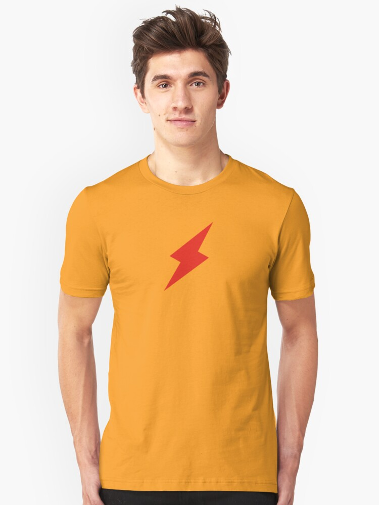 Red Lightning Unisex T-Shirt Front