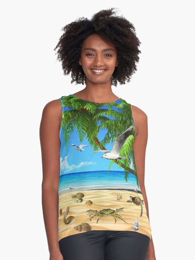 SUMMER PARADISE  Contrast Tank Front