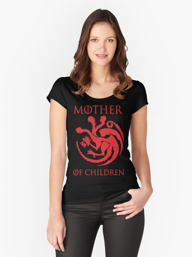 mother of children Women's Fitted Scoop T-Shirt Front