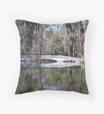Magnolia Plantation bridge Throw Pillow