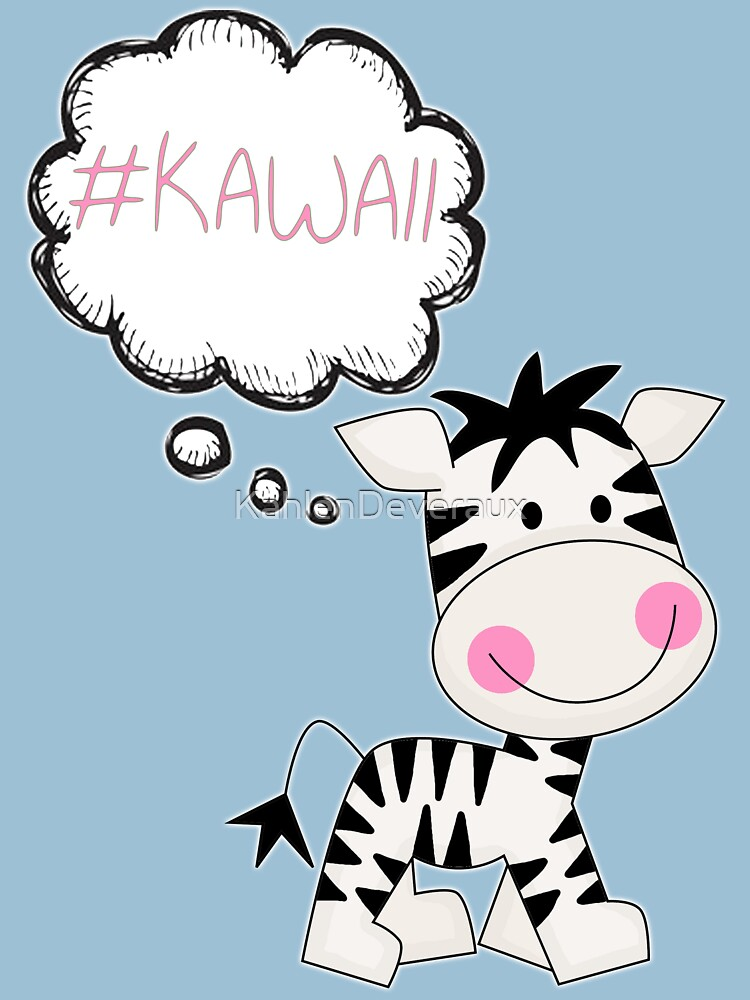 Kawaii Zebra So Cute by KahlenDeveraux
