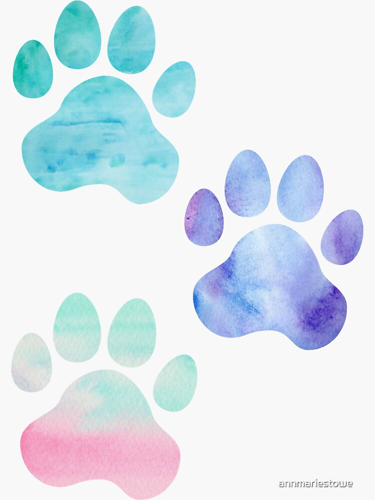 Aquarell Paw Print Trio von annmariestowe