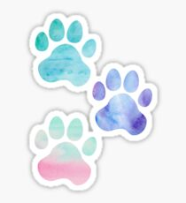 Aquarell Paw Print Trio Sticker