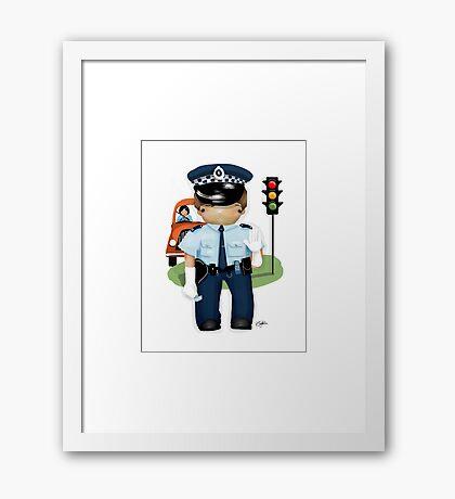 The Little Policeman Framed Print