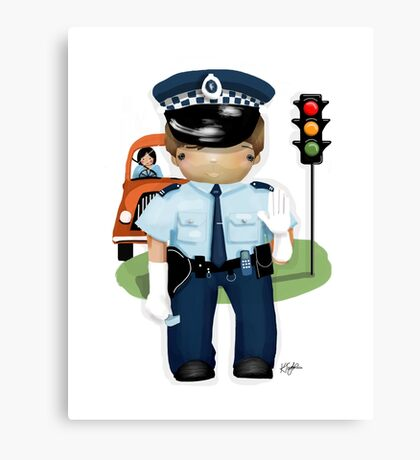 The Little Policeman Canvas Print