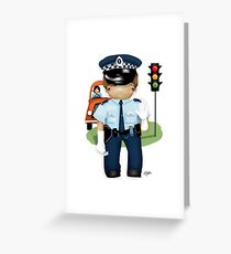 The Little Policeman Greeting Card