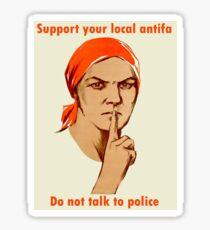 Support your local antifa Sticker