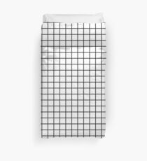 Thick Grid Duvet Cover