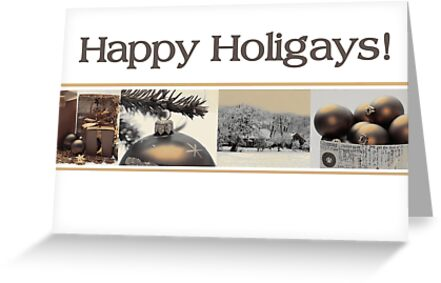 Happy Holigays: Sepia Christmas Collage by Sabbia-Natale