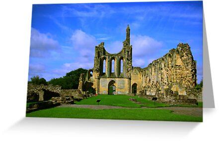 Byland Abbey  North Yorkshire by Trevor Kersley