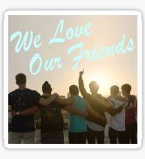 We Love Our Friends Sticker