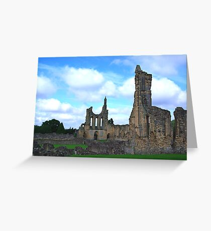 Byland Abbey -4 Greeting Card
