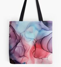 Flame Fired Alcohol Ink Painting Tote Bag