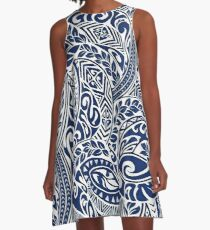 Hawaiian tribal pattern III A-Line Dress