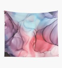 Flame Fired Alcohol Ink Painting Wall Tapestry