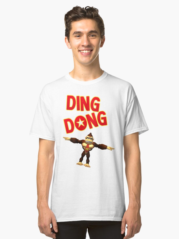 Ding Dong, It's Donkey Kong Classic T-Shirt Front