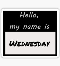 Wednesday Nametag Sticker