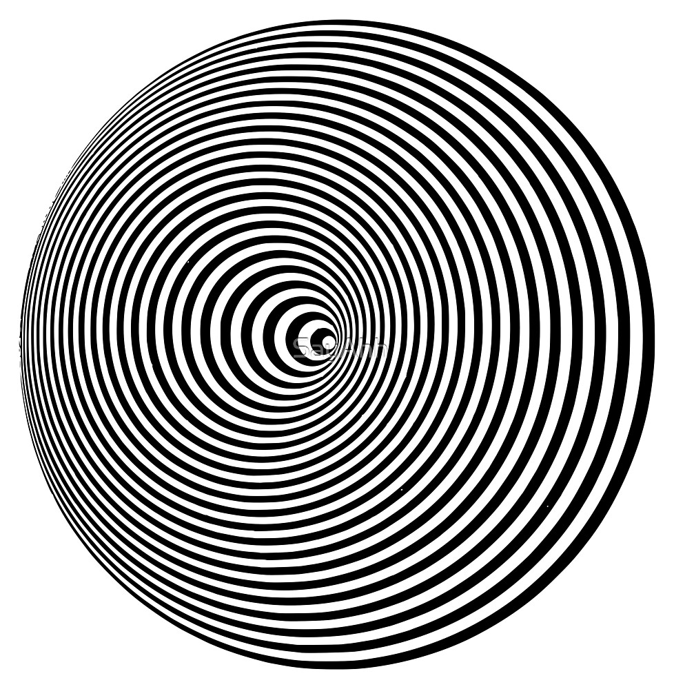 Trippy Concentric Circles Optical Illusion by SayAhh