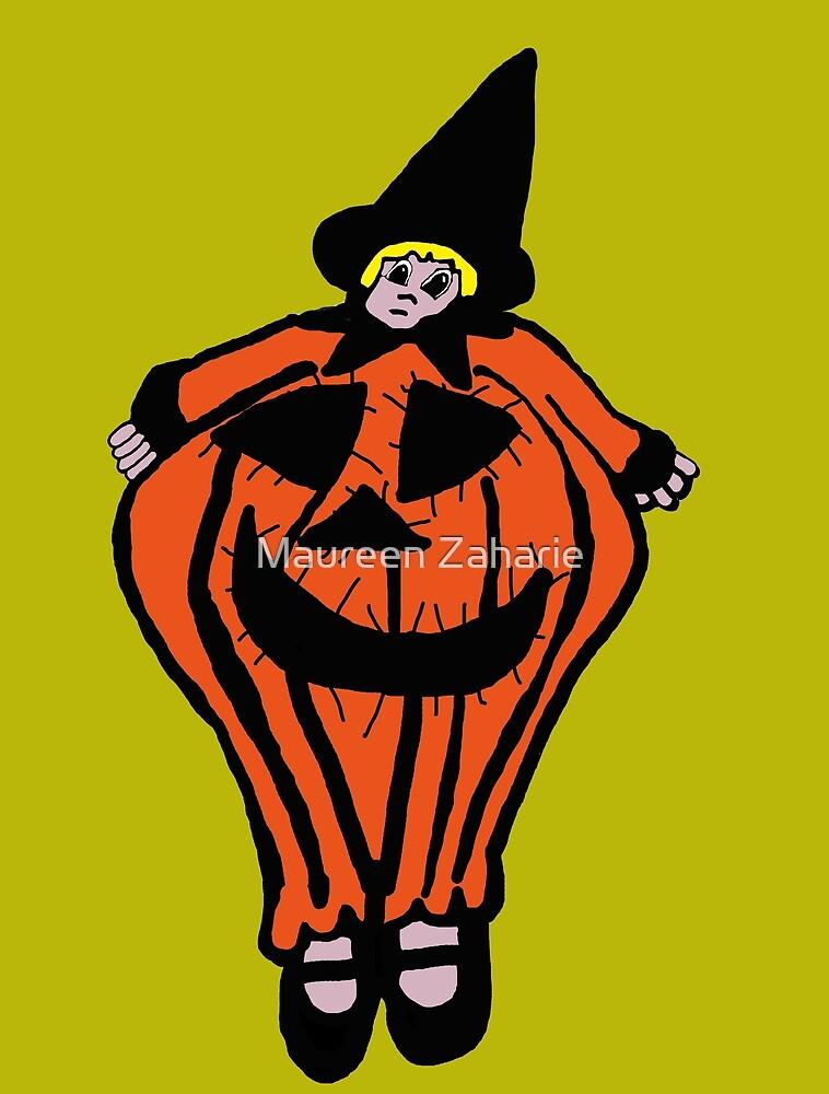 Girl in the Pumpkin Costume by Maureen Zaharie