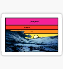 Waves Sunset - Pacific and Atlantic Coast Sticker
