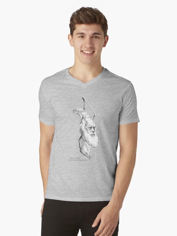 Darwin Took Steps -t-shirt by Glendon Mellow