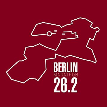 The route of the Berlin Marathon by Confundo