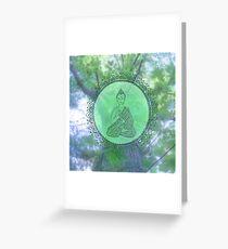 Heart Chakra Nature Buddha Greeting Card