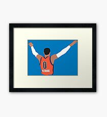Russell Westbrook Embrace The Crowd Framed Print
