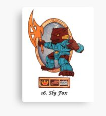 Battle beasts 16 sly fox Canvas Print