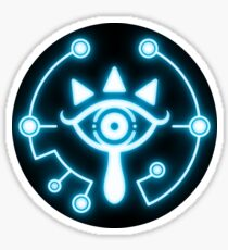 Zelda eye symbol sticker blue Sticker