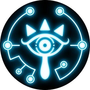 Zelda eye symbol sticker blue by TrinketGeek