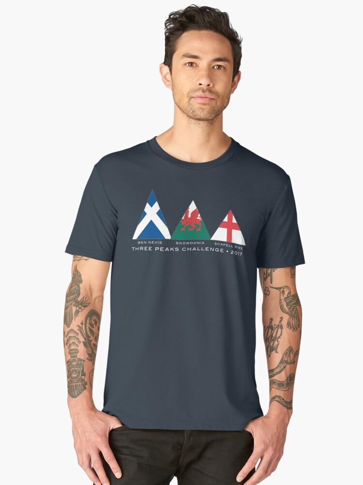 3 Peaks 2017 Men's Premium T-Shirt Front