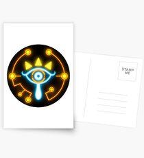 Zelda eye symbol sticker blue and orange Postcards