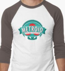 Metroid Cartography and Bounty Hunting Men's Baseball ¾ T-Shirt