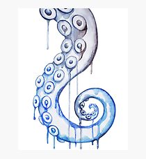 Blue Spiral Tentacle Photographic Print